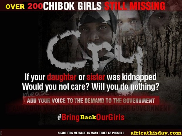 IT'S 14 DAYS BOKO HARAM KIDNAPPED OVER 200 SCHOOL GIRLS.