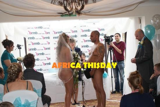 nudist wedding event pictures