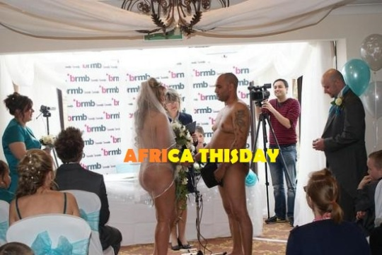 UNBELIEVABLE:  Naked Couple Weds In Church...PICTURES.
