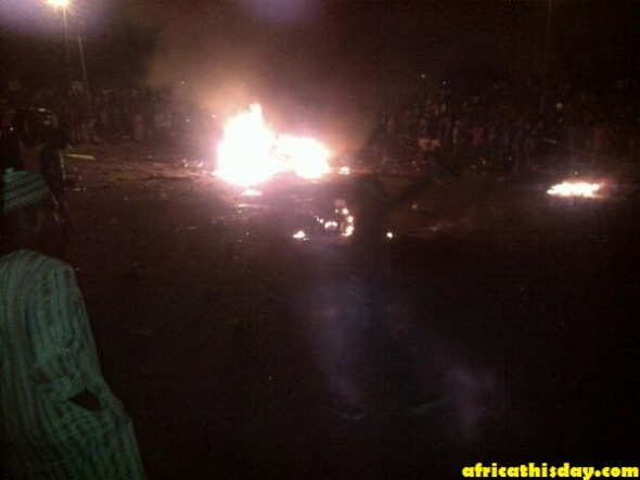 BREAKING NEWS: ANOTHER BOMB EXPLODES IN NYANYA, ABUJA. PICTURES.