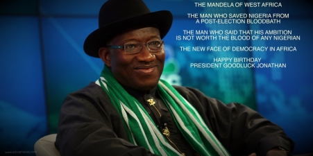 Goodluck Jonathan, Nigeria's president, pauses during a session on the opening day of the World Economic Forum (WEF) in Davos, Switzerland, on Wednesday, Jan. 22, 2014. World leaders, influential executives, bankers and policy makers attend the 44th annual meeting of the World Economic Forum in Davos, the five day event runs from Jan. 22-25. Photographer: Chris Ratcliffe/Bloomberg via Getty Images